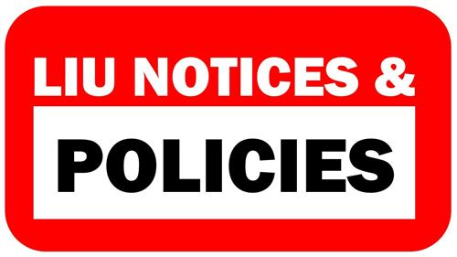 graphic saying notices & policies