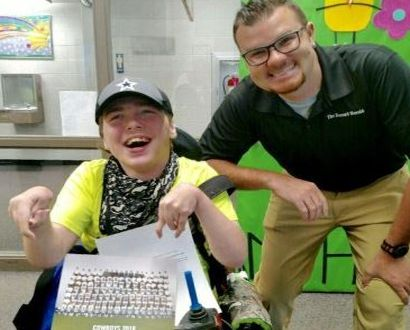 Local reporter makes one FLC student very happy!