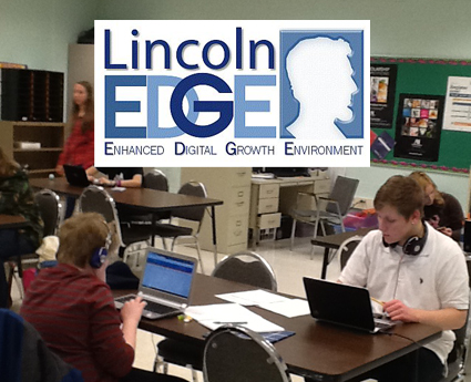 Lincoln EDGE Cyber students